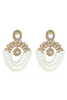 Stone and Pearl Hoop Earrings | Blossom Box