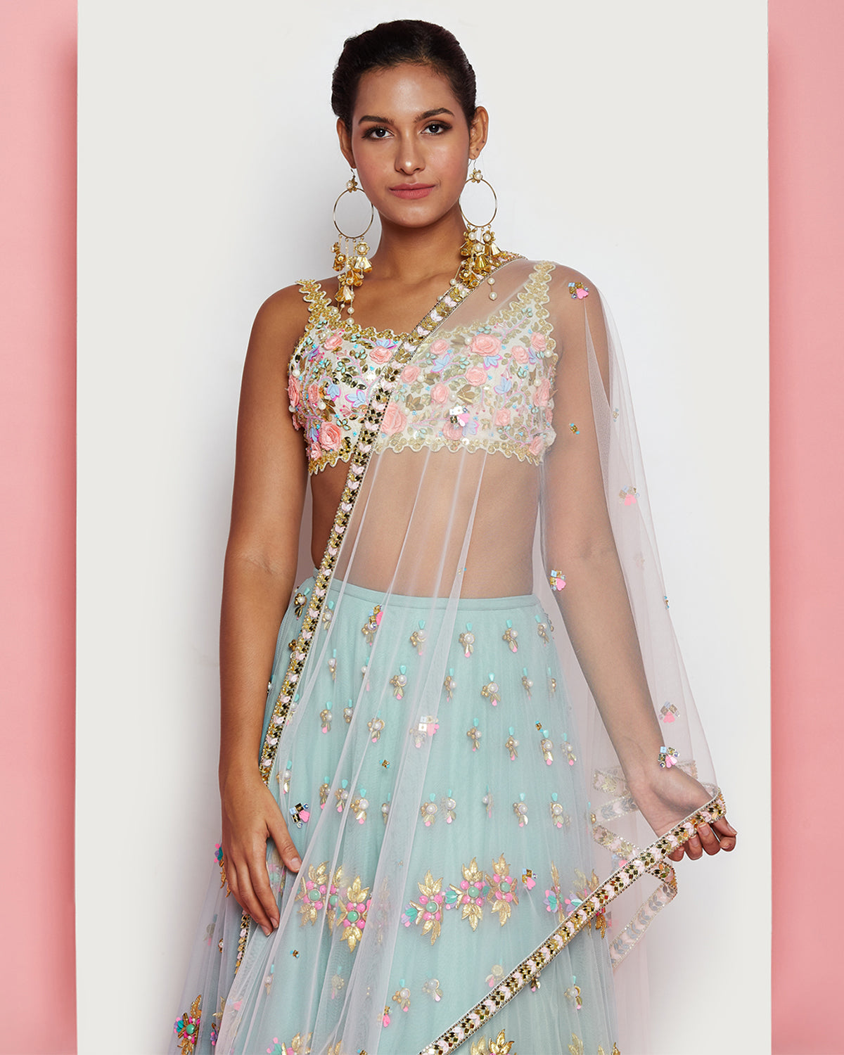 Embroidered Papa Dont Preach Lehenga