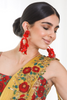 Bright Red Floral Clip On Earrings | KYNAH x Ranjana Khan