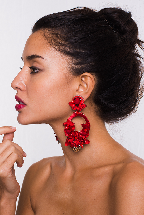 Posie Red Earrings