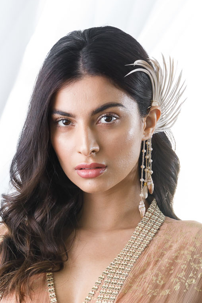 Feather and Bead Ear Cuff | KYNAH x Ranjana Khan