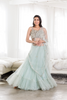 Mermaid Tiered Blue Lehenga