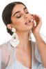Clip on Plated White Earrings | KYNAH x Ranjana Khan