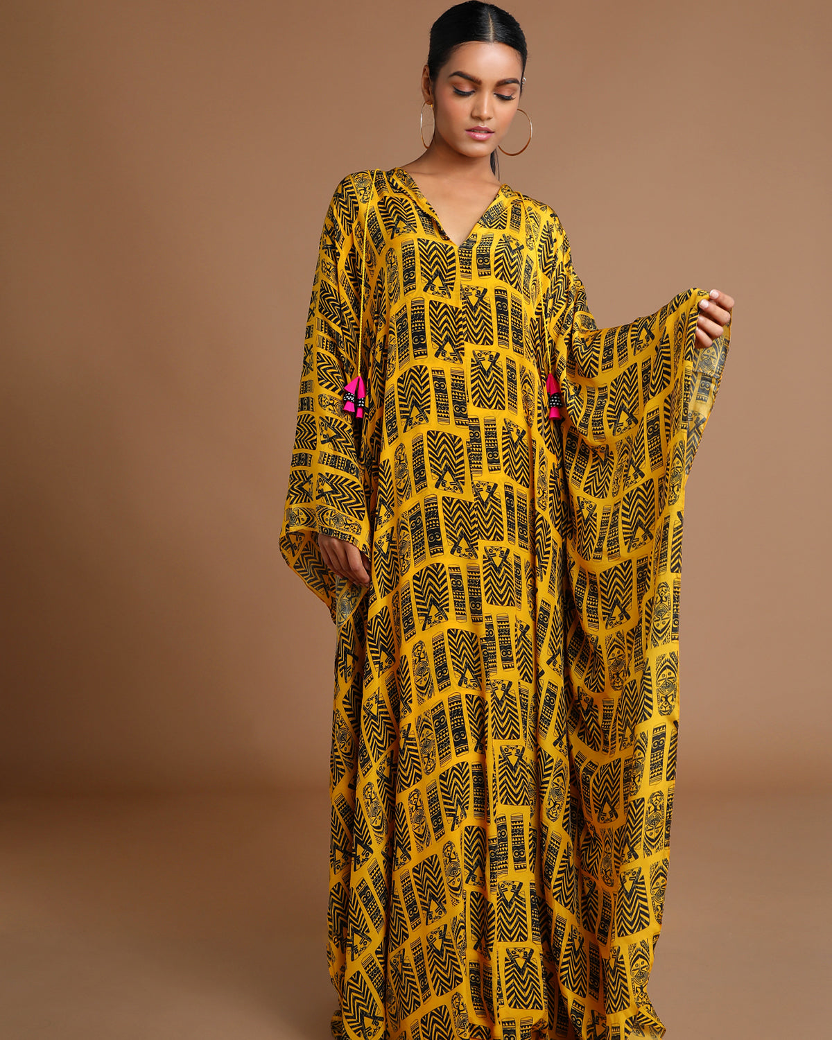 tribal printed kaftan