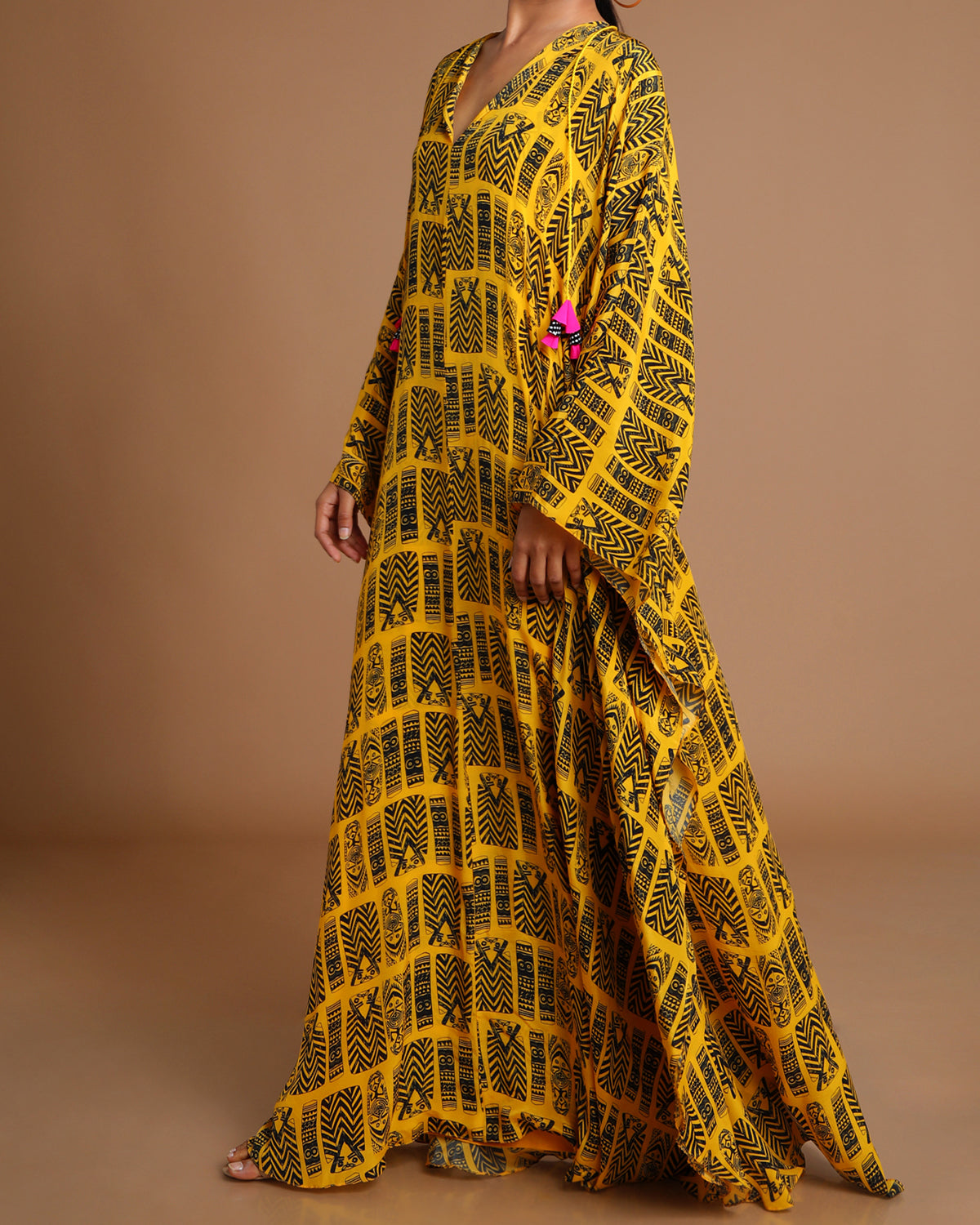 yellow tribal kaftan