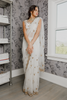 White Gold Net Bridal Sari