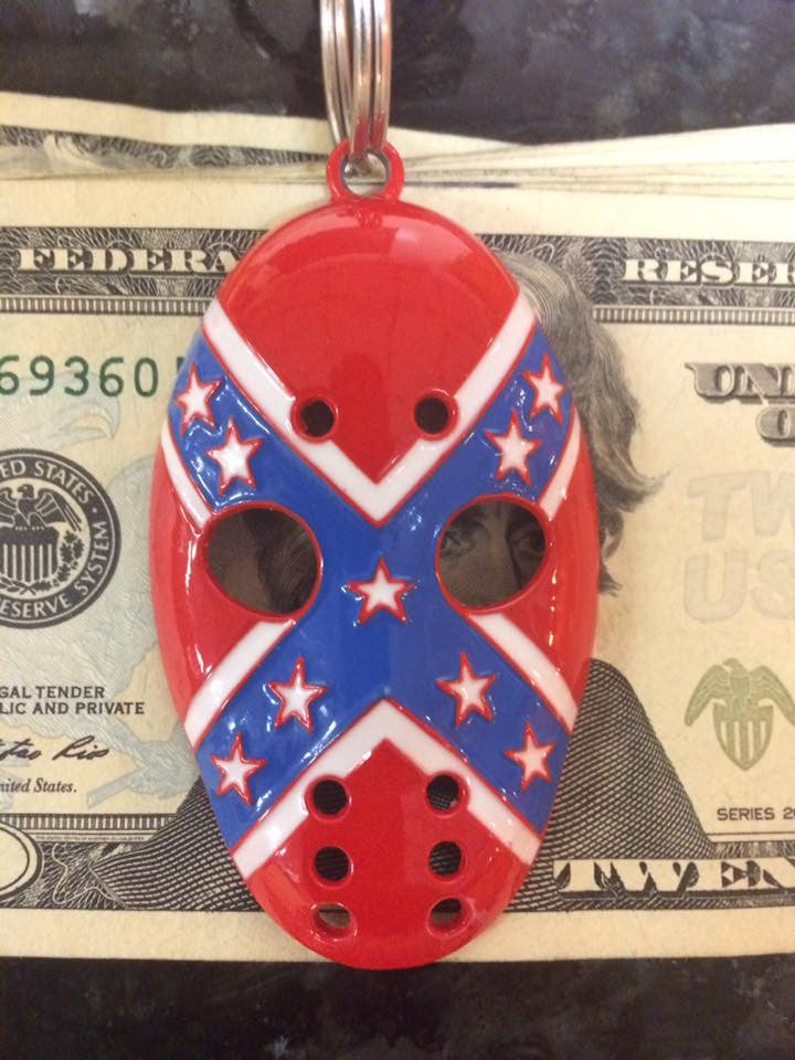 Rebel Flag Mask Pendant/Keychain