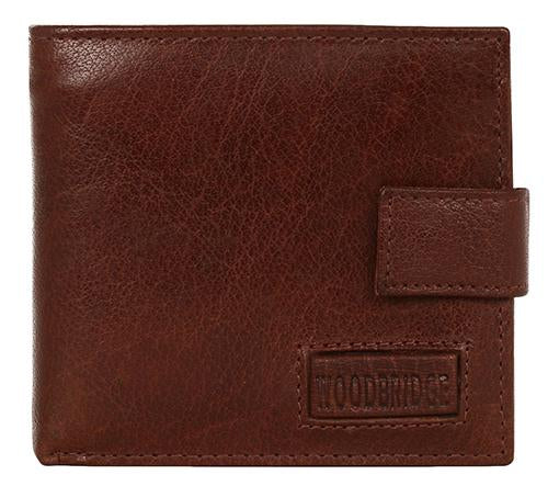 Woodbridge Mens Luxury Leather Brown Bifold Wallet For Cards & Coins - NC4003 Brown-Woodbridge-Maxwell Hamilton