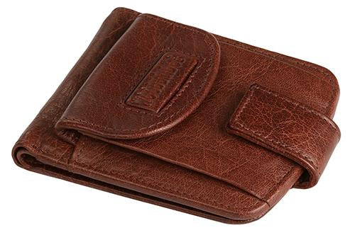 WOODBRIDGE MENS GENUINE LEATHER WALLET CREDIT CARD HOLDER COIN POUCH 4009-BROWN