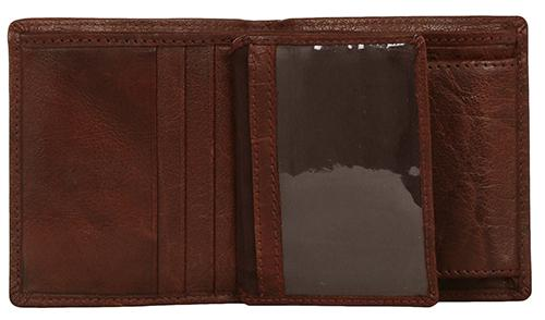 Woodbridge Mens Luxury Leather Brown Bifold Wallet For Cards & Coins - NC4010 Brown-Woodbridge-Maxwell Hamilton