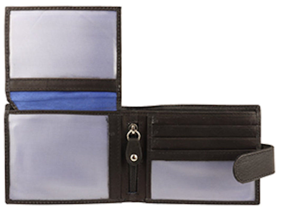 Woodbridge Mens Luxury Black Leather Slim Credit Card Holder Wallet - NC4024-Woodbridge-Maxwell Hamilton