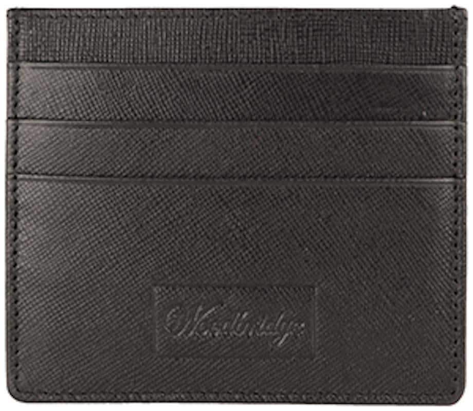 Woodbridge Mens Luxury Black Leather Slim Credit Card Holder Wallet - NC4029-Woodbridge-Maxwell Hamilton