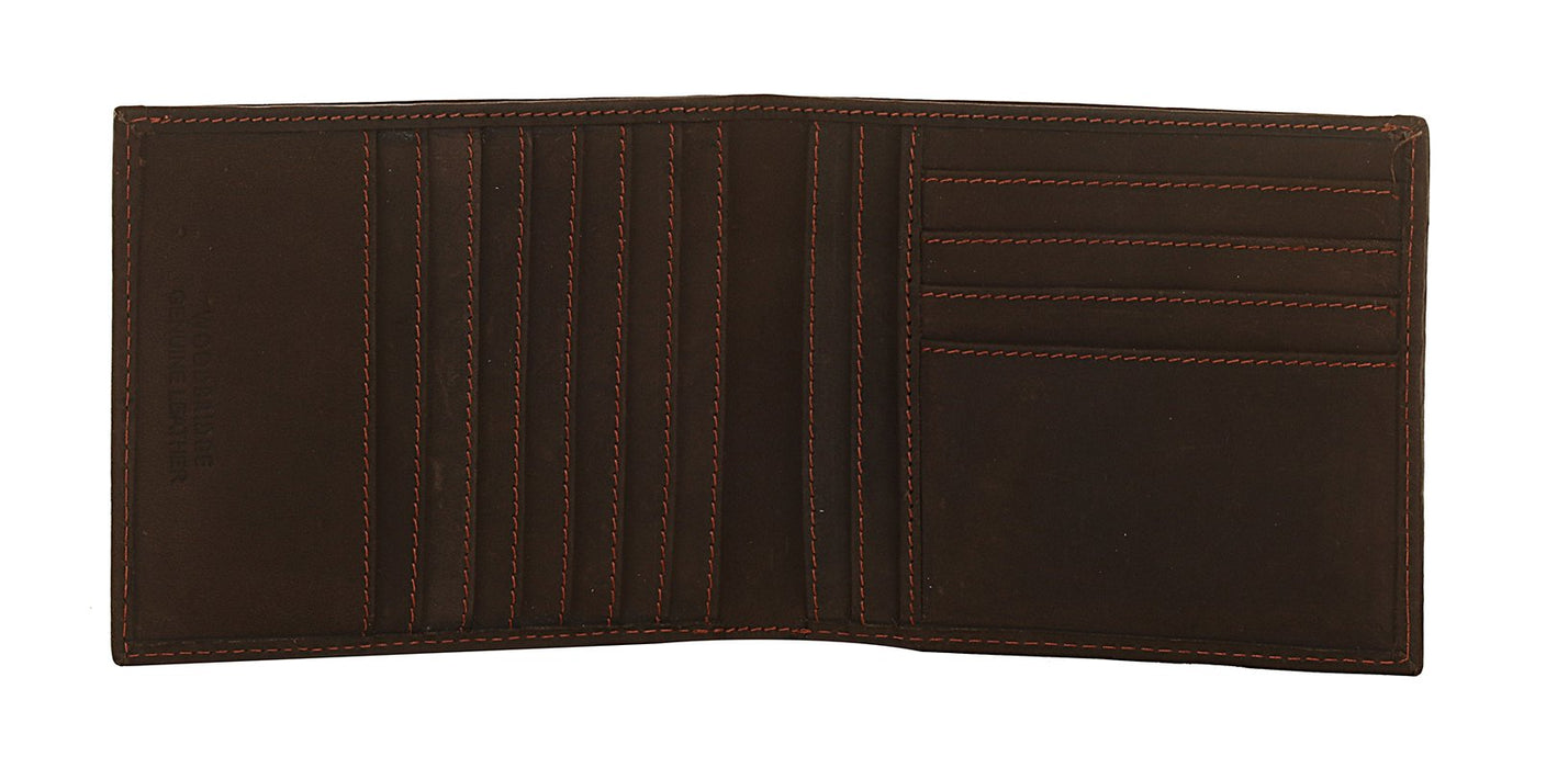 Woodbridge Mens Distressed RFID Oiled Brown Leather Cards Slim Wallet - NC4052 Brown-Woodbridge-Maxwell Hamilton