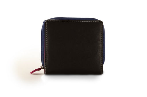 Sienna Rose RFID Small Soft Ladies Leather Black Multi Designer Purse - P5136 Multicolour-Sienna Rose-Maxwell Hamilton
