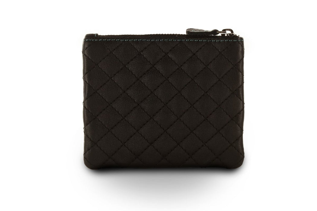 Sienna Rose RFID Small Soft Ladies Leather Black Quilt Designer Purse - P5139 Black Quilt-Sienna Rose-Maxwell Hamilton