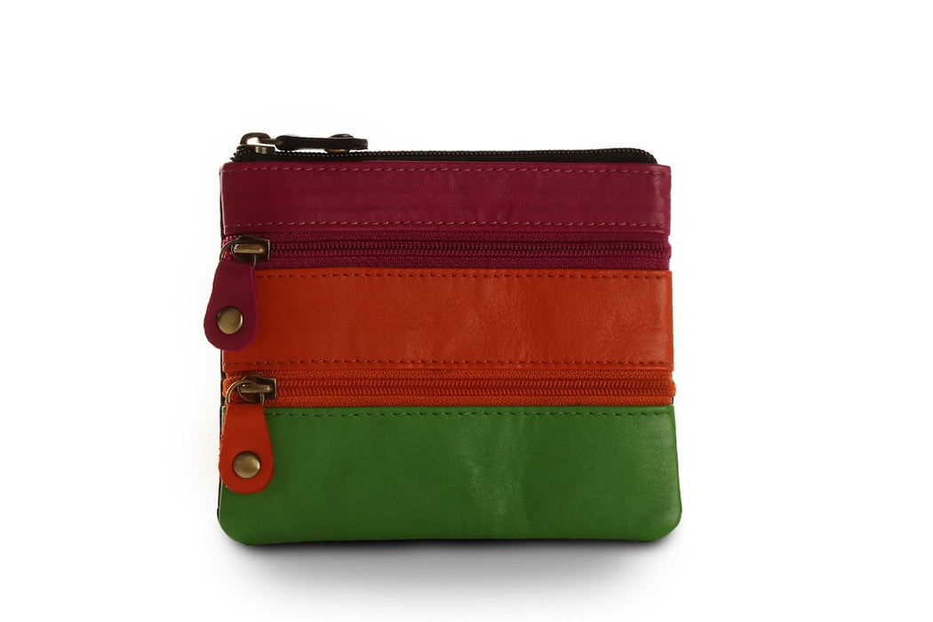 Sienna Rose RFID Small Soft LadiesLeather Black Multi Designer Purse - P5139 Multicolour-Sienna Rose-Maxwell Hamilton