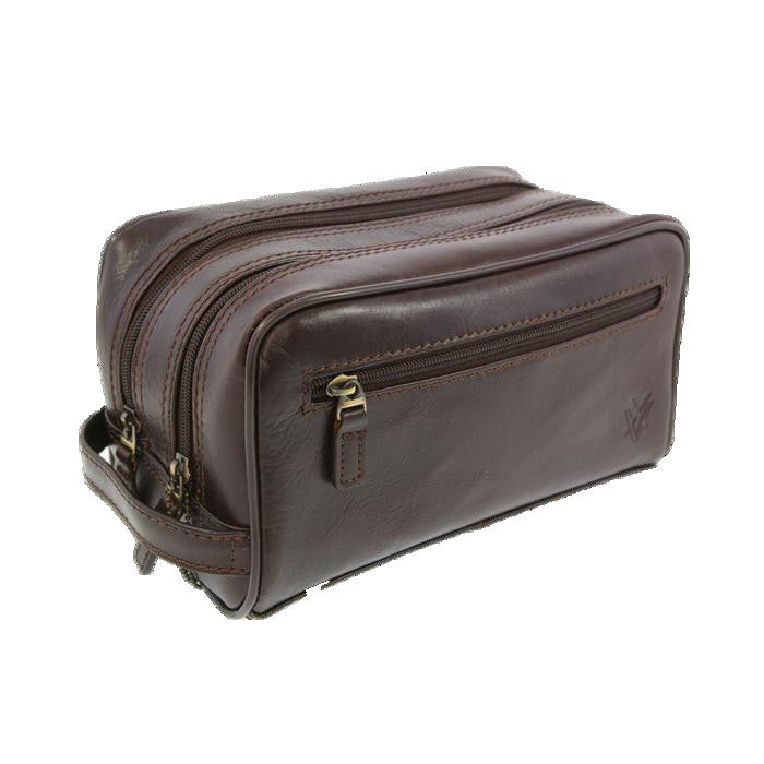 Quindici Leather Wash Bag-Quindici-Maxwell Hamilton