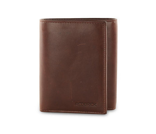 Redbrick Mens RFID Luxury Genuine Leather Brown Trifold Wallet For Credit Cards - RBWC0002 Brown-Redbrick-Maxwell Hamilton