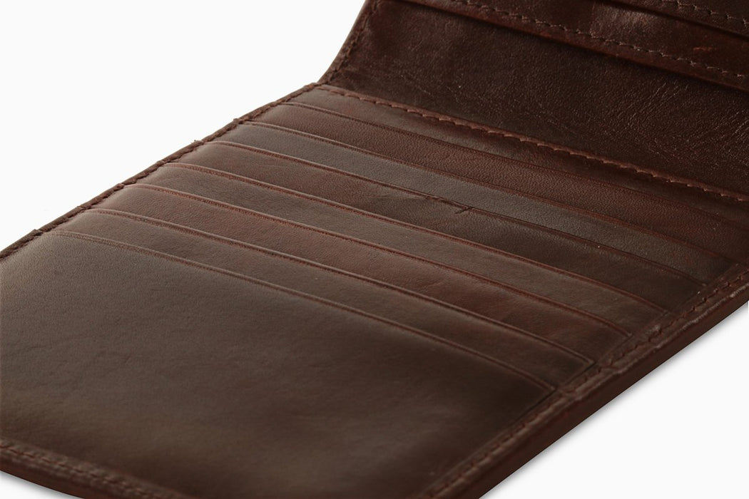 Redbrick Mens RFID Luxury Leather Brown Bifold Multiple Cards Wallet - RBWC0018 Brown-Redbrick-Maxwell Hamilton