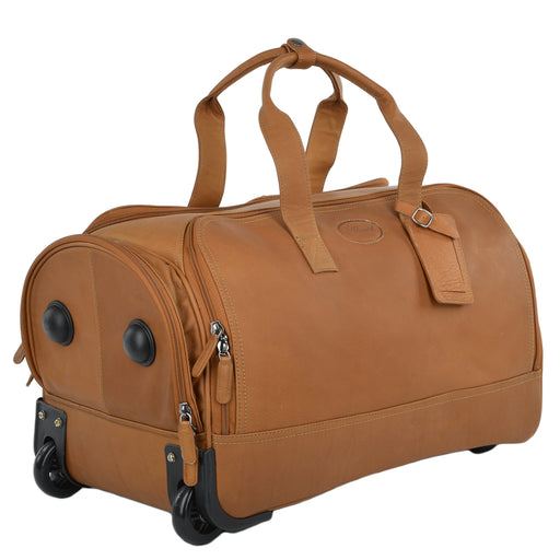 Ashwood Wheeled Leather Holdall 8146
