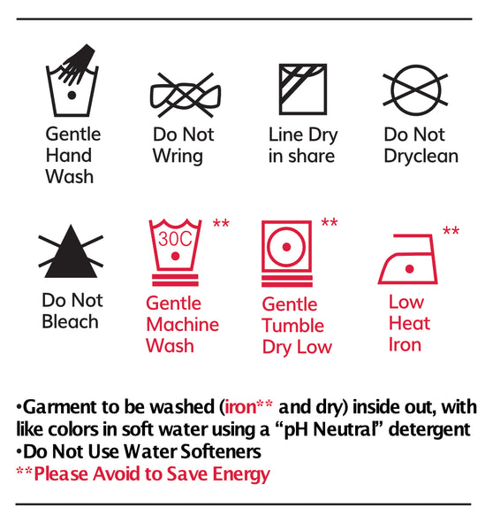 Wash Care Instructions