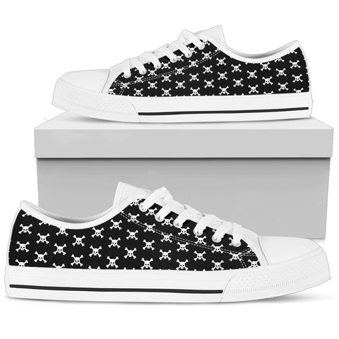 Skull Crossbones Low Top Shoes - OnlineGearz