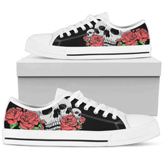 Women Skulls and Roses Low top Shoe