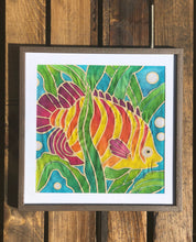 Batik Tropical Fish Fabric Painting Kit - 8x8 Inch Pre Drawn Wax Design, Paint, Brush and Palette