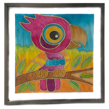 Batik Parrot Fabric Painting Kit - 8x8 Inch Pre Drawn Wax Design, Paint, Brush and Palette