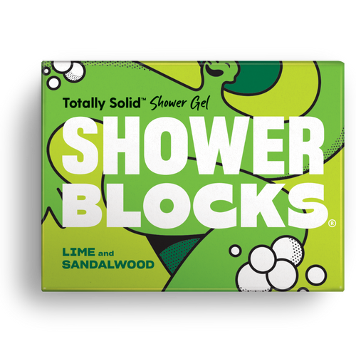 Shower Blocks-Solid Shower Gel | Lime & Sandalwood | Cruelty Free, Vegan & Plastic Free