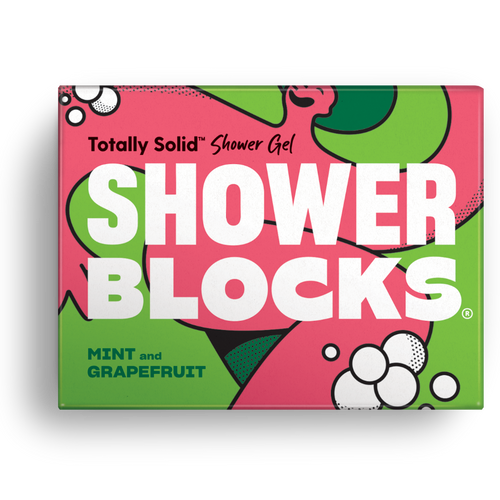 Shower Blocks-Solid Shower Gel | Mint & Grapefruit | Cruelty Free, Vegan & Plastic Free