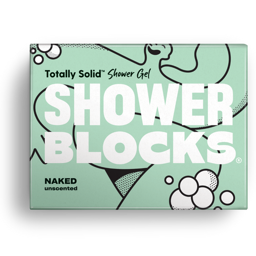 Shower Blocks-Solid Shower Gel | Naked Unscented | Cruelty Free, Vegan & Plastic Free