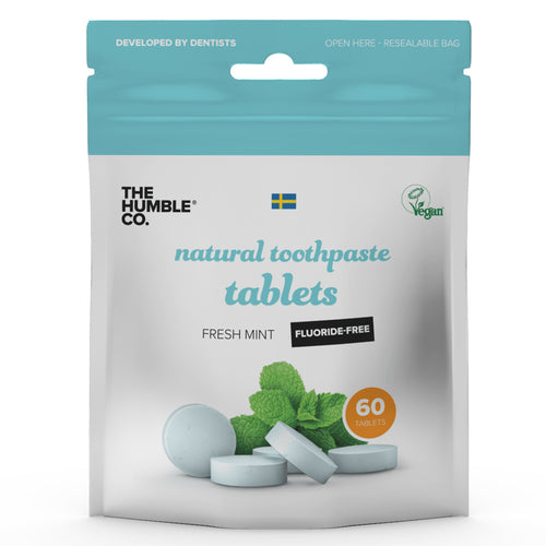 The Humble Co-Natural Toothpaste Tablets | Flouride Free | Vegan & Plastic Free