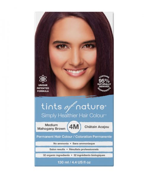 Tints of Nature-Permanent Hair Dye | 4M Medium Mahogany Brown