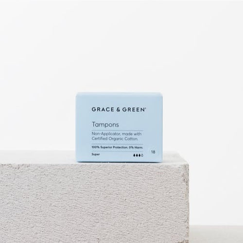 Grace & Green-Organic Non Applicator Tampons | Super