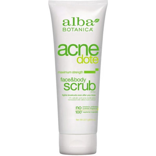 Alba Botanica-Acne Face & Body Scrub - The Cruelty Free Beauty Box