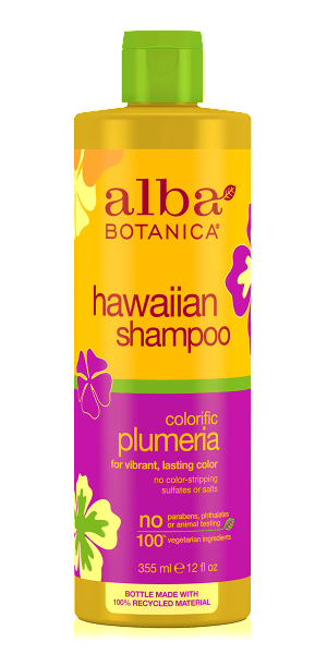 Alba Botanica-Hawaiian Colorific Plumeria Shampoo - The Cruelty Free Beauty Box