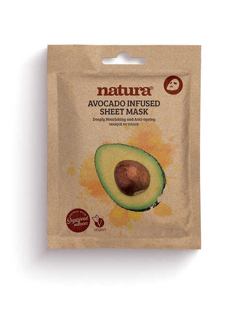 Natura-Avocado Sheet Mask - The Cruelty Free Beauty Box