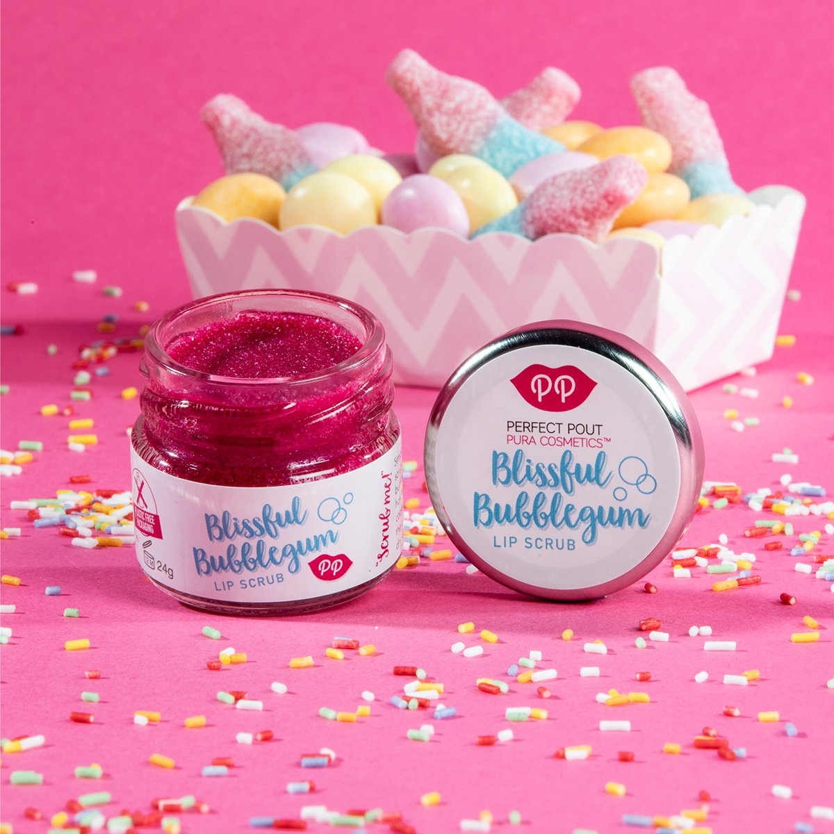 Pura Cosmetics-Lip Scrub | Blissful Bubblegum