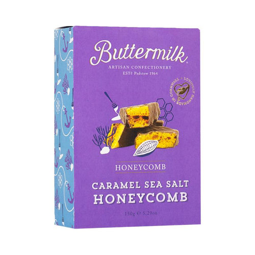 Buttermilk-Dark Chocolate Coated Caramel Sea Salt Honeycomb | Vegan