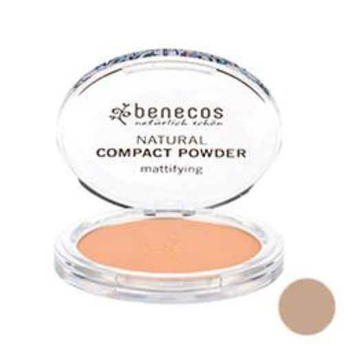 Benecos-Compact Powder 'Beige' 9g - The Cruelty Free Beauty Box