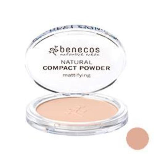 Benecos-Compact Powder 'Sand' 9g - The Cruelty Free Beauty Box