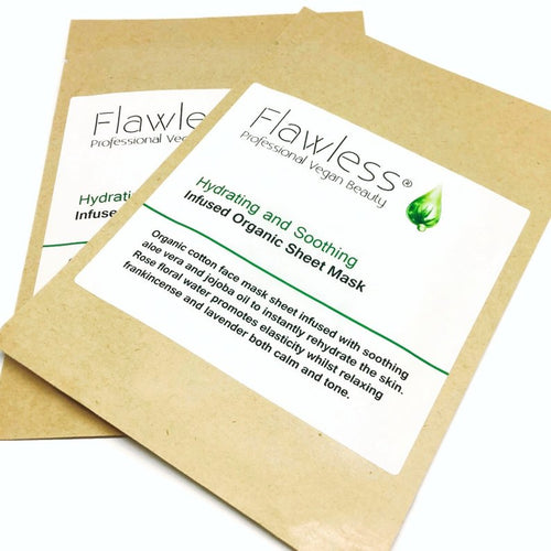 Flawless-Rose & Frankincense Sheet Face Mask - The Cruelty Free Beauty Box