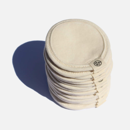 Zero Waste Club-Organic Cotton Makeup Remover Pads & Wash Bag