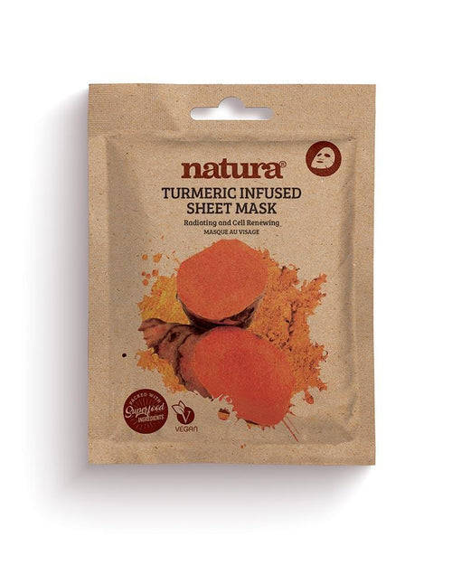 Natura-Tumeric Sheet Mask - The Cruelty Free Beauty Box