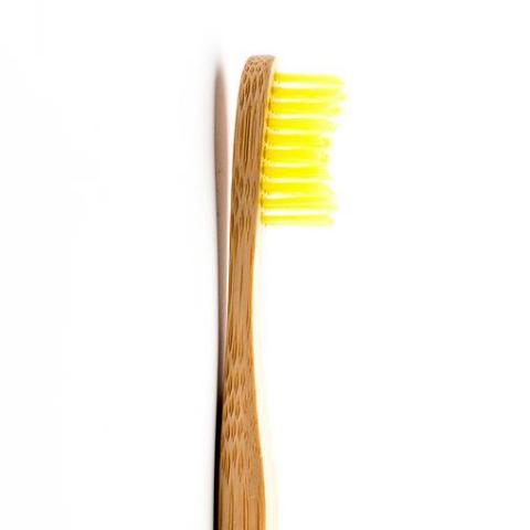 The Humble Co.-Adult Toothbrush | Yellow - The Cruelty Free Beauty Box