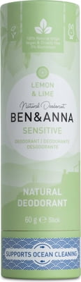Ben & Anna-Sensitive Deodorant Stick | Lemon & Lime - The Cruelty Free Beauty Box
