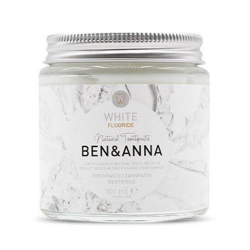 Ben & Anna-White Natural Toothpaste | With Fluoride