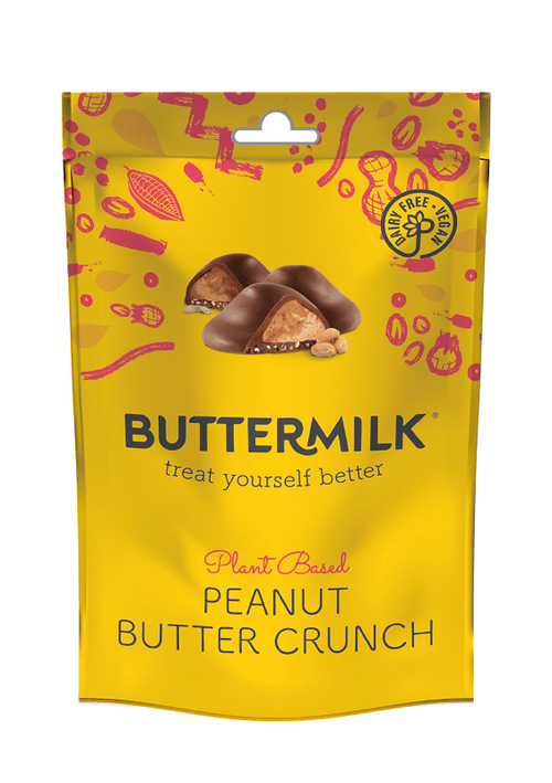 Buttermilk Peanut Butter Crunch Milk Chocolate Bites | Vegan and Dairy Free
