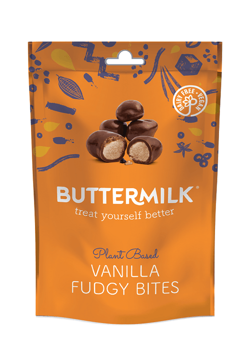 Buttermilk Fudgy Vanilla Milk Chocolate Bites | Vegan and Dairy Free